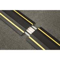 D-Line Floor Cable Cover Hazard 80mm 1.8m With Connectors Yellow/Black