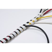 D-Line Cable Tidy Spiral Wrap 2.5m White