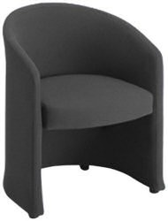 SINGLE SEAT TUB CHAIR CHARCOAL FABRIC