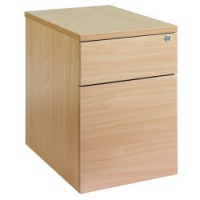 Image for 2 Drawer Locking Mobile Pedestal With Handles White