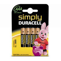 Duracell Simply Battery Pk 4 AAA 81235219