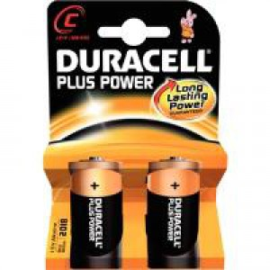 Duracell Plus Battery C Pk 2 81275429