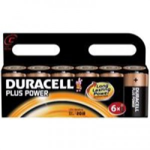 Duracell Plus Battery C Pk6 81275434