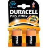 Duracell Plus Battery 9V Pack of 2 81275459