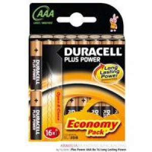 Duracell Plus Battery AAA Pack of 16 81275415