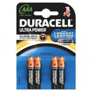 Duracell Ultra Battery Pack of 4 AAA 75051959