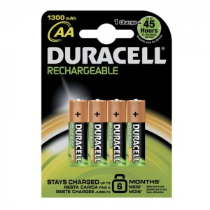 Duracell staycharged premium AA4 rechargeable - 2400 mah