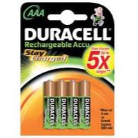 Duracell Rechargeable ACCU NiMH Battery AAA Pack of 4 15039555