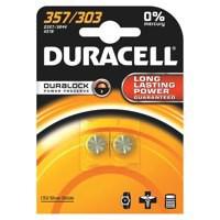 Duracell Button Battery Silver Oxide Pk 2 1.5 D357 15031685