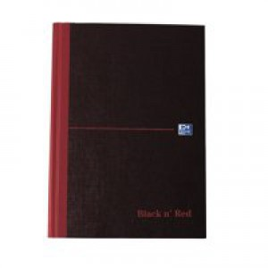 Black n Red Book Casebound 90gsm Ruled 192 Pages A5 Code 100080459