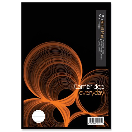 Cambridge Refill Pad Headbound Narrow Ruled Margin Punched 4 Holes 70gsm 160pp A4 Ref 100080168 [Pack 5]