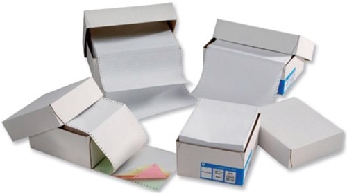 Challenge Listing Paper 1-Part Plain Microperf 70gsm 11inchx241mm [2000 Sheets]