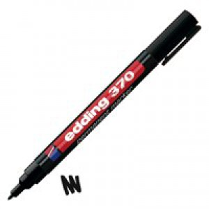 Edding Permanent Marker Black 370-001