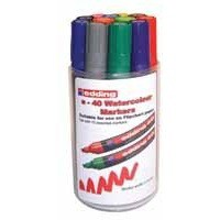 Edding Watercolour Marker Assorted Tub of 12 40/12S