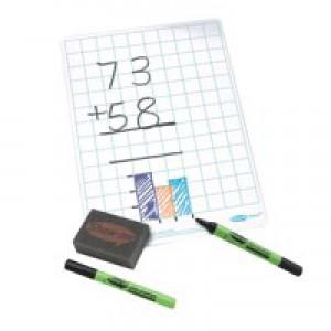 Show-me a4 squared whiteboard sets  c/sqb