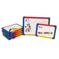 Show-Me A4 Rainbow Framed Magnetic Whiteboard