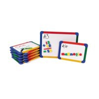 Show-Me A3 Rainbow Framed Magnetic Whiteboard