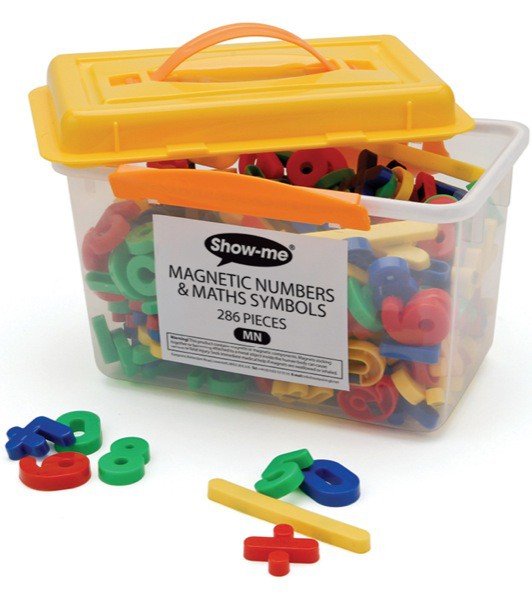 Show-Me Magnetic Maths Symbols And Numbers Tub of 286
