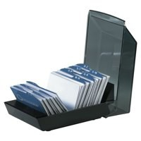 Rolodex Card Tray Index Capacity 100 Cards 67x102mm Black Ref S0793430