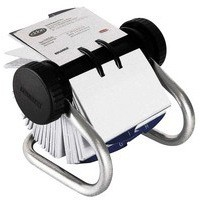 Image for Rolodex Classic 200 Rotary Business Card File Chrome S0793790