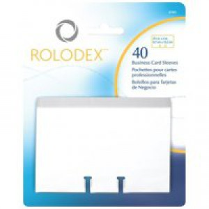 Rolodex Business Card Sleeves 67x102mm Clear Ref 67691 [Pack 40]