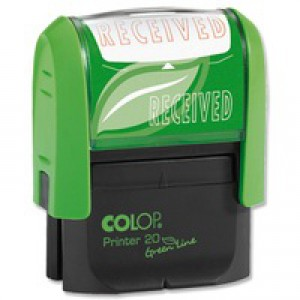Colop Word Stamp Green Line Received GLP20REC