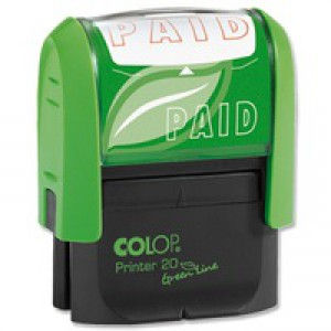 Colop Word Stamp Green Line Paid GLP20PAID
