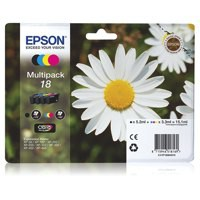 Epson 18 Black/Cyan/Magenta/Yellow Inkjet Cartridge (Pack of 4) C13T18064010 / T1806