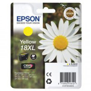 Epson 18XLY Inkjet Cartridge High Yield Yellow C13T18144010