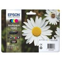 Epson 18XL Inkjet Cartridges High Capacity 31.3ml Black/Cyan/Magenta/Yellow Ref C13T18164010 [Pack 4]