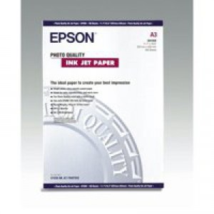 Epson Photo Quality Inkjet Paper A3 720dpi Pack of 100 C13S041068