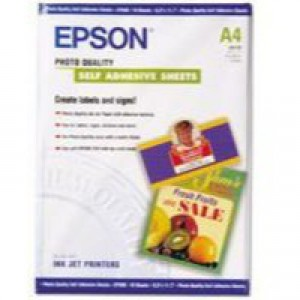 Epson Photo Quality Paper A4 Self-Adhesive Pack of 10 C13S041106