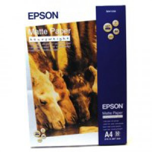 Epson Matt Photo Paper Heavyweight A4 Pk 50 C13S041256