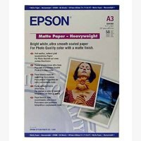Epson Matt Photo Paper Heavyweight A3 Pack of 50 C13S041261