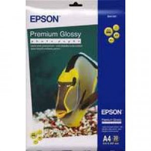 Epson Premium Glossy Photo Paper A4 Pack of 20 C13S041287