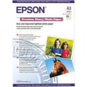 Epson Premium Glossy Photo Paper A3+ Pack of 20 C13S041316