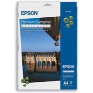 Epson Premium Semi-Gloss Photo Paper A4 Pack of 20 C13S041332