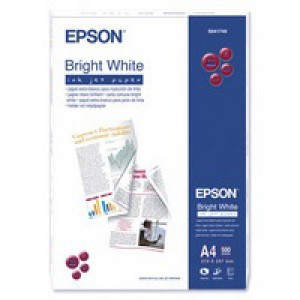Epson Inkjet Paper Ream-Wrapped 90gsm A4 Bright White Ref S041749 [500 Sheets]