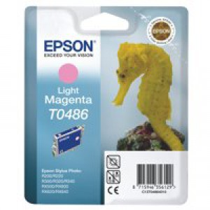 Epson R300/RX500 Inkjet Cartridge Light Magenta 13ml T0486 C13T048640