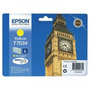 Epson WP4000/4500 Inkjet Cartridge Yellow C13T70344010
