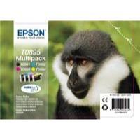 Epson T0895 Inkjet Cartridge Multi Pack of 4 KCMY C13T08954010