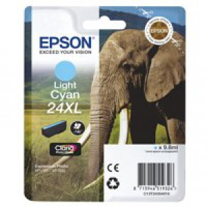 Epson XP750/850 Elephant Inkjet Cartridge 24XL High Yield Light Cyan