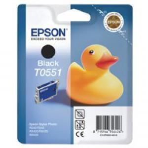 Epson Stylus RX420 Inkjet Cartridge Black 8ml T0551 C13T055140