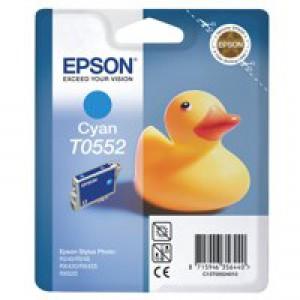 Epson T0552 Inkjet Cartridge Duck Cyan Ref C13T05524010