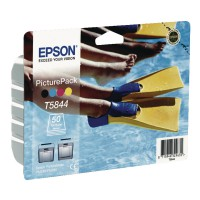 Image for Epson Inkjet Cartridge Black/Cyan/Magenta/Yellow Plus 50 Sheets Photo Paper C13T584440A0