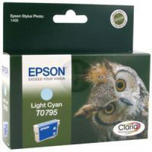 Epson Stylus Photo 1400 Inkjet Cartridge Light Cyan C13T079540