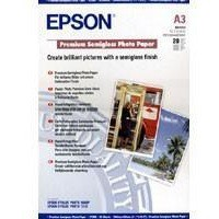 Epson Premium Semi-Gloss Photo Paper A3+ Pack of 20 C13S041328