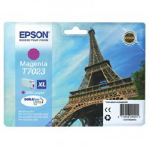Epson T7023 Inkjet Cartridge Eiffel Tower XL High Capacity Page Life 2000pp Magenta Ref C13T70234010