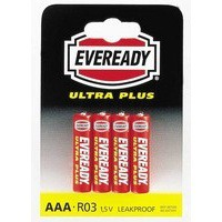 Eveready Super Heavy Duty Batteries AAA (Pack of 4) RO3B4UP