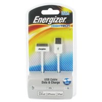 Energizer USB Charger Sync Cable Apple Dock Black
